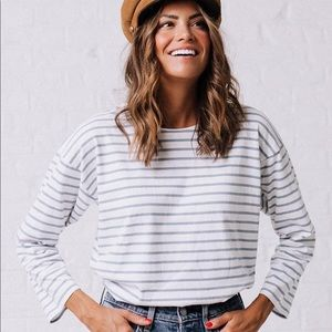 Clad and Cloth Mod Ref Stripes for Days Tee